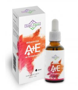 Witamina A+E w kroplach (700mcg+ 12mg) 30ml Soul Farm