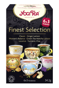 Herbatka FINEST SELECTION (Mix Herbatek) BIO (6 x 3 TOREBKI) 34,6g Yogi Tea